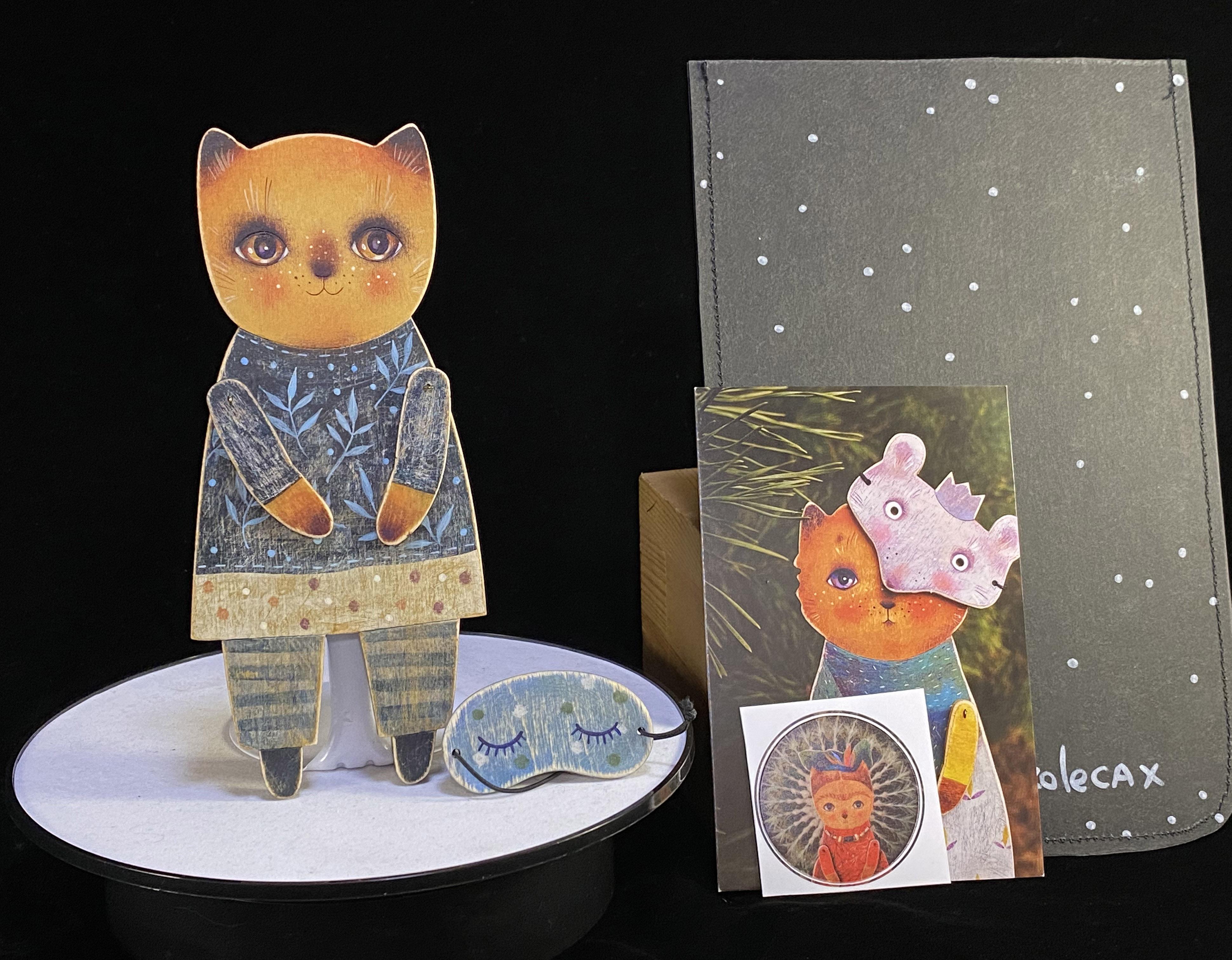 ドム・ナ・コリョーサフ Dom na Korecax 「木の人形5 猫2」画像