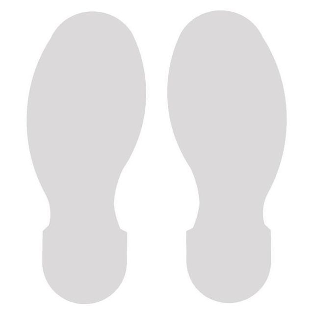 足型フロアマーキングテープ 白 30枚/セット(右15枚・左15枚/15足分) f1044113の画像