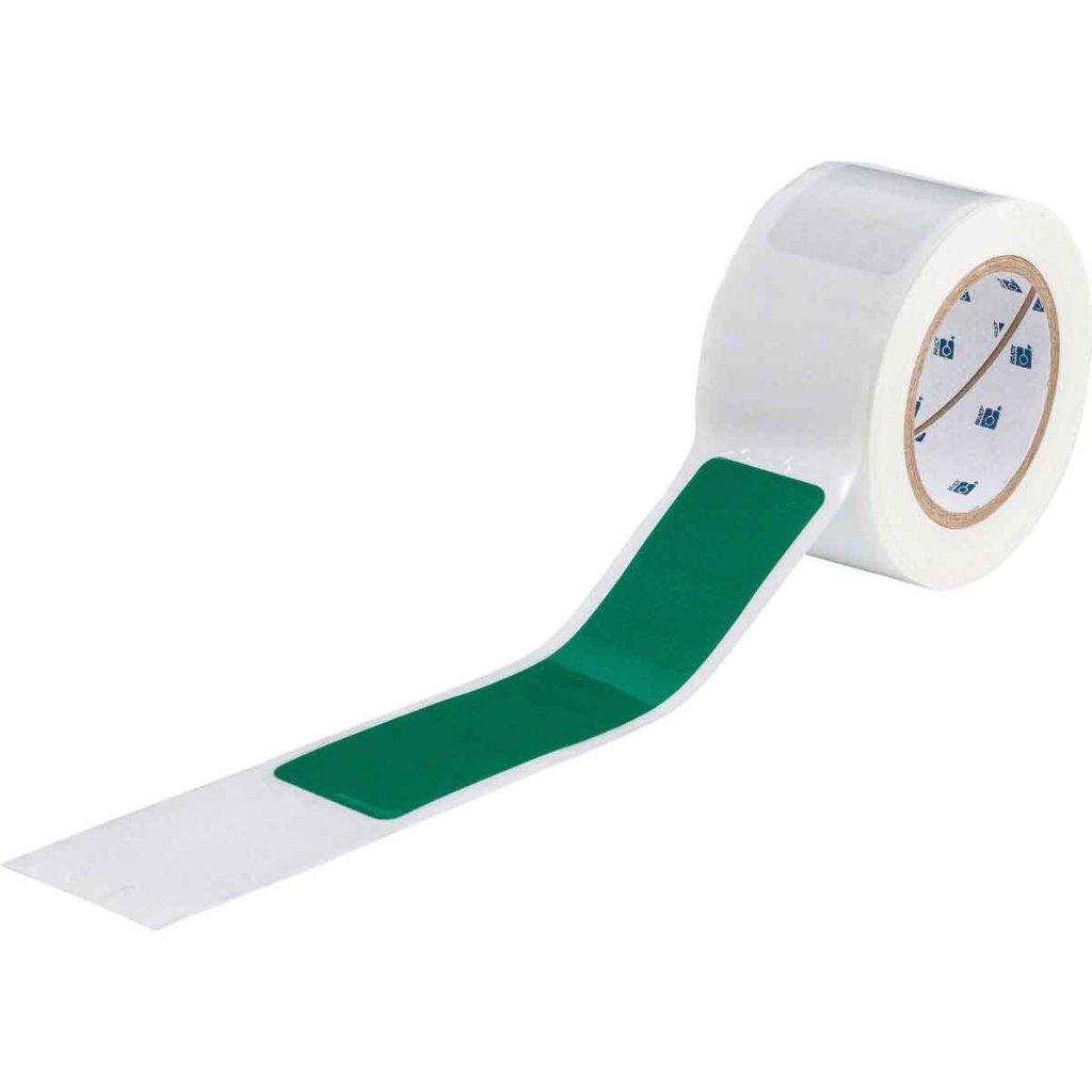 間隔付きフロアマーキングテープ ダッシュ型 緑 142181の画像