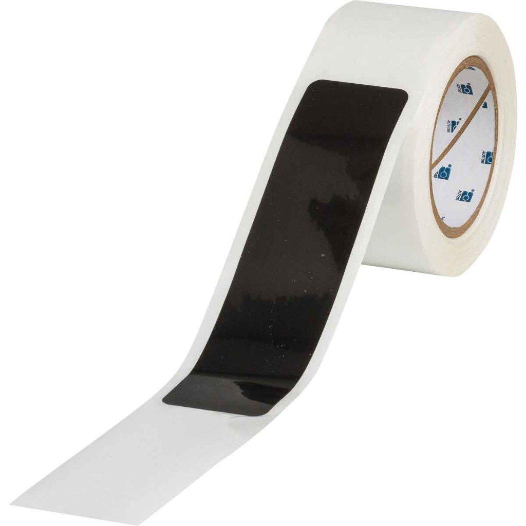 間隔付きフロアマーキングテープ ダッシュ型 黒 142178の画像