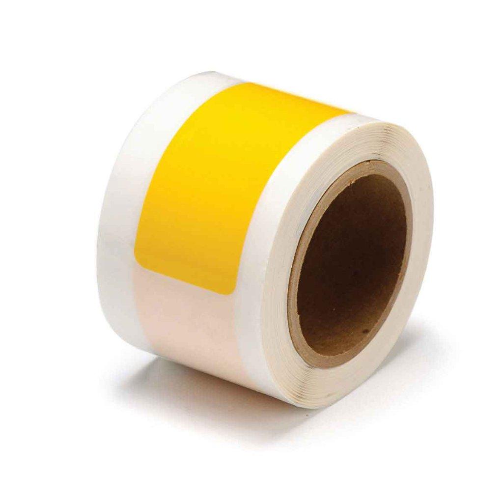 間隔付きフロアマーキングテープ ダッシュ型 黄 104556の画像