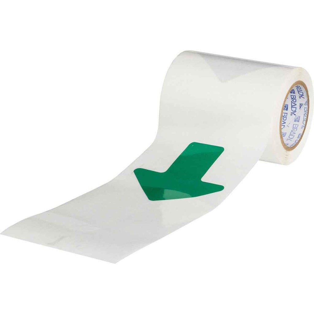 間隔付きフロアマーキングテープ 矢印型 緑 f1045272の画像