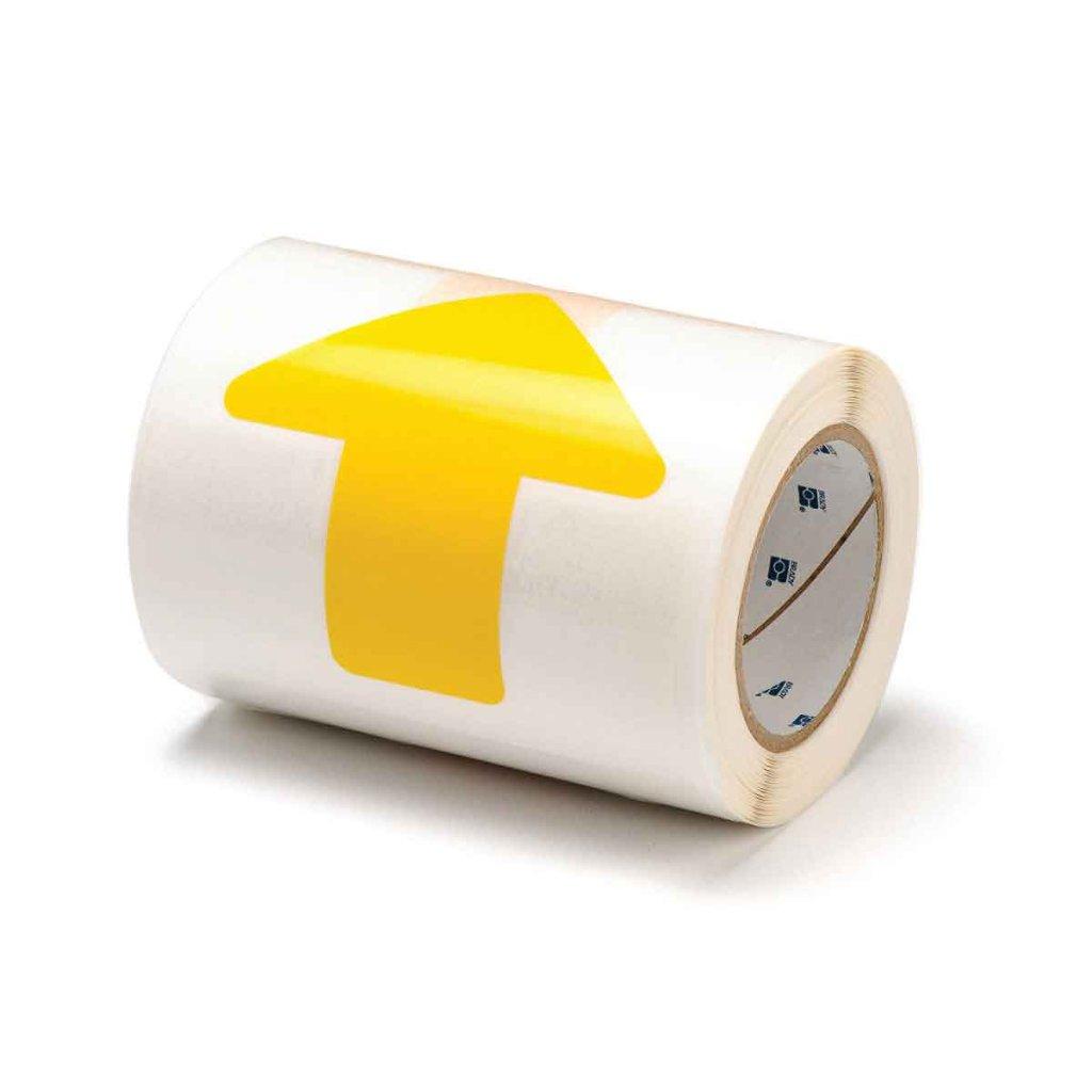 間隔付きフロアマーキングテープ 矢印型 黄 f1045294の画像