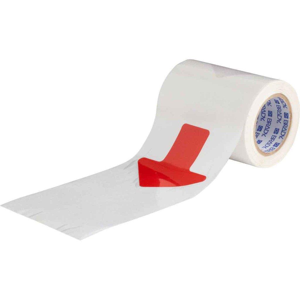 間隔付きフロアマーキングテープ 矢印型 赤 f1045263の画像