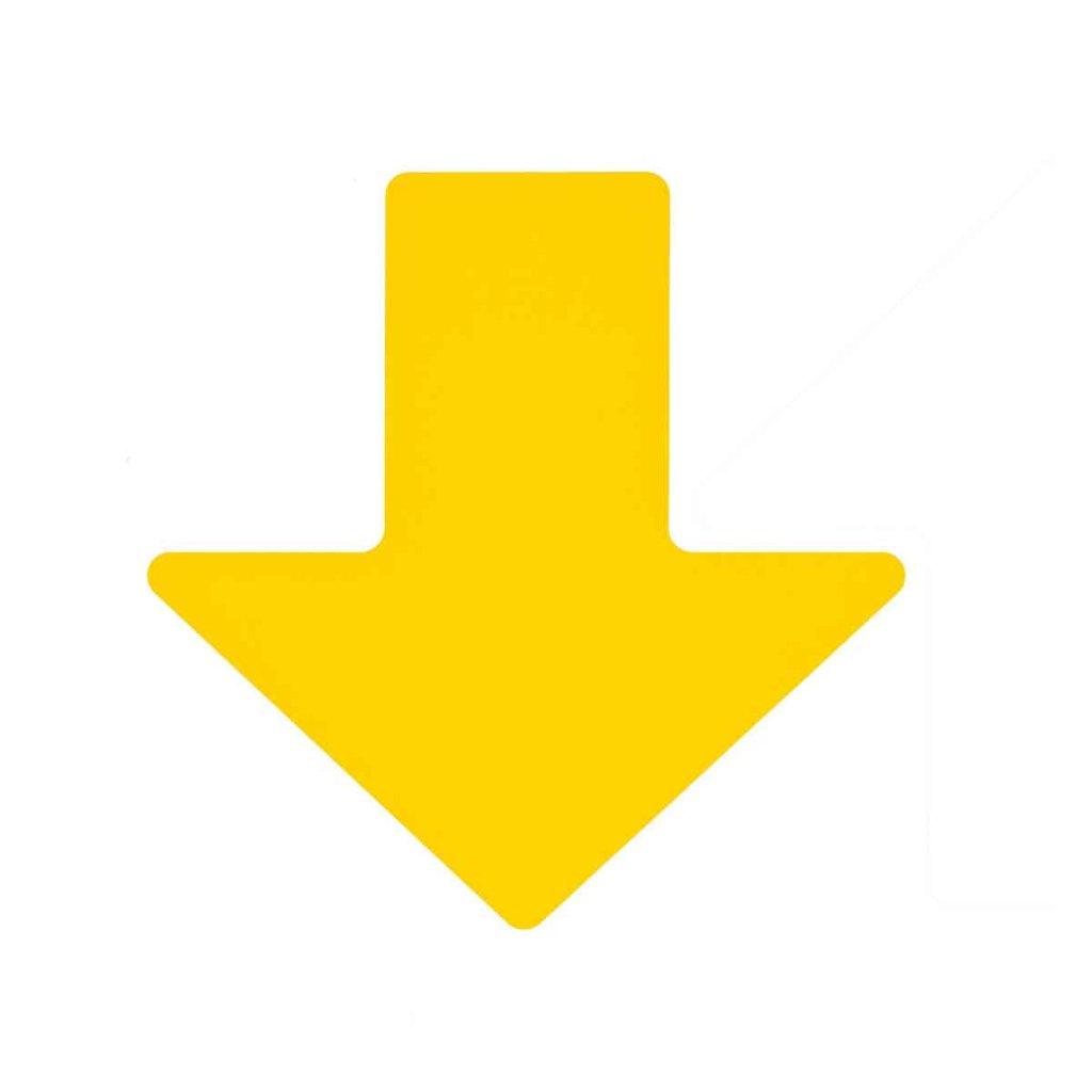 矢印フロアマーキングテープ 黄 100枚/セット f1044157の画像