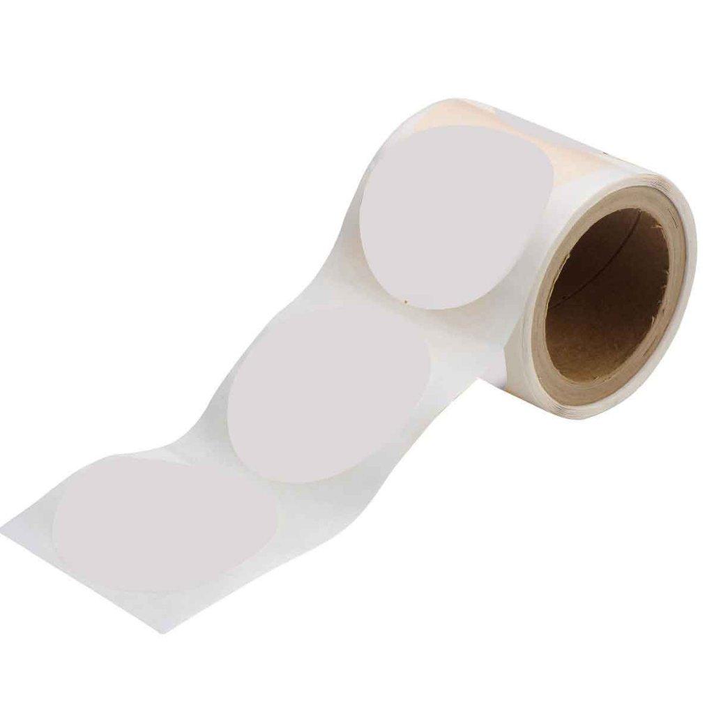 丸型フロアマーキングテープ 350枚/セット 白 104405の画像