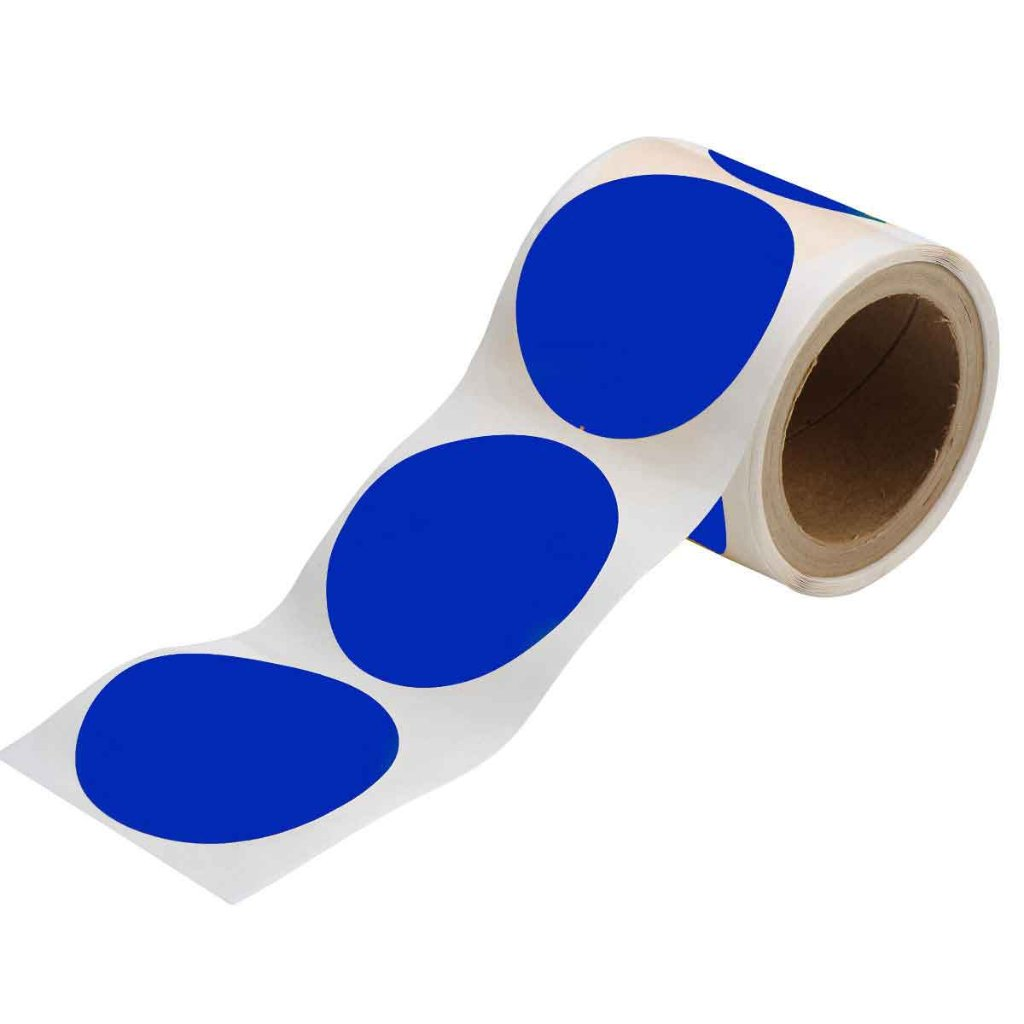 丸型フロアマーキングテープ 350枚/セット  青104402の画像