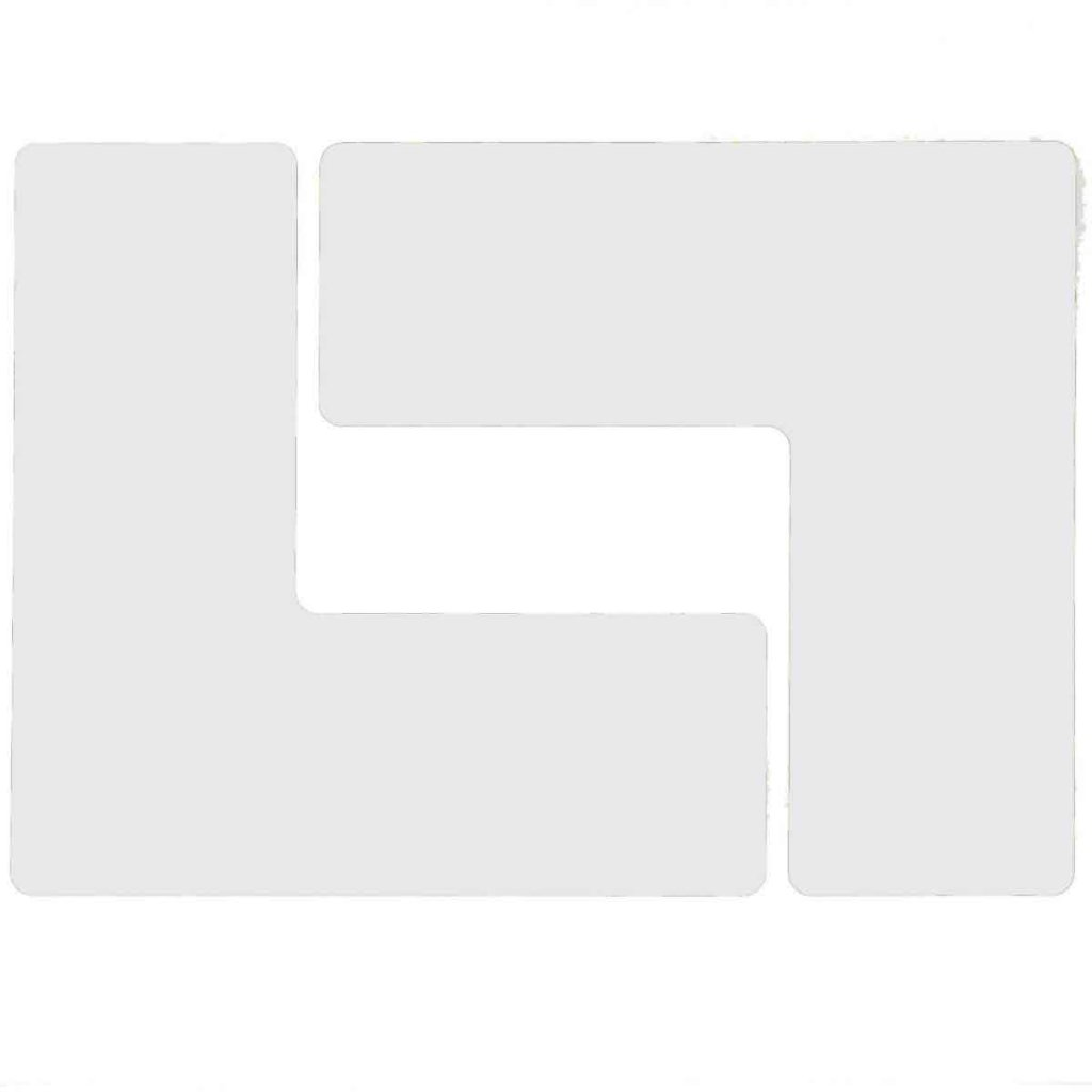 L型 フロアマーキングテープ  線幅:76.2mm 40枚/セット  白 104447の画像