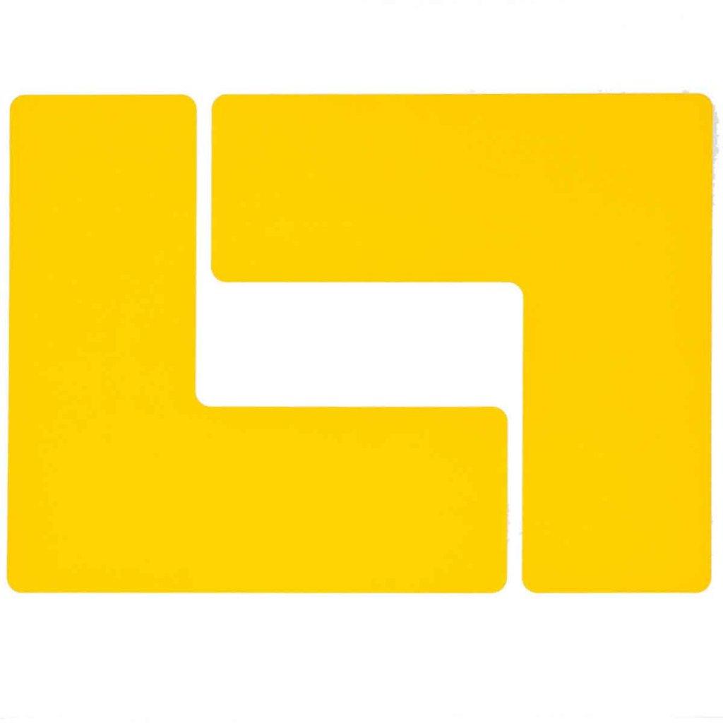 L型 フロアマーキングテープ  線幅:76.2mm 40枚/セット  黄 104445の画像