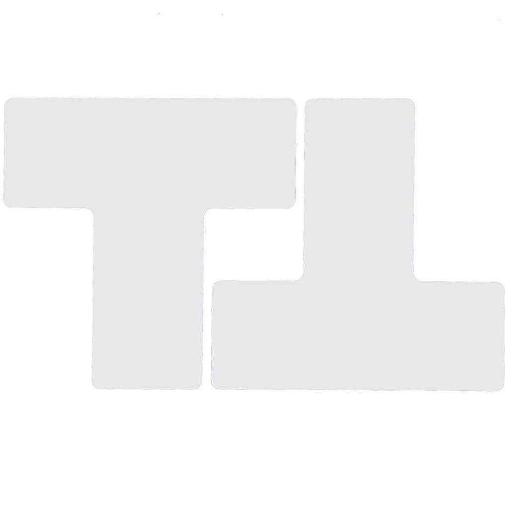 T型 フロアマーキングテープ  線幅:76.2mm 40枚/セット  白 104453の画像