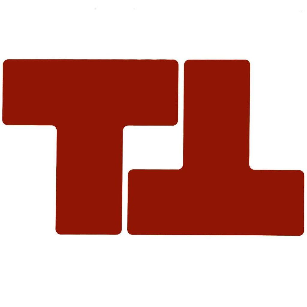 T型 フロアマーキングテープ  線幅:76.2mm 40枚/セット  赤 104448の画像