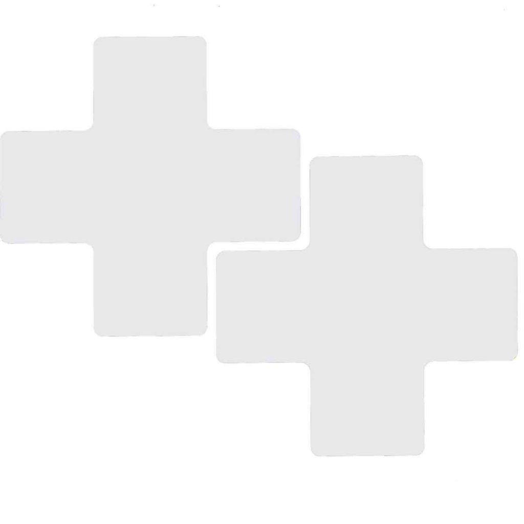 十型 フロアマーキングテープ  線幅:76.2mm 40枚/セット  白 104477の画像