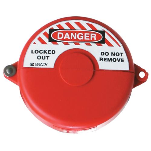 ゲートバルブ ロックアウト 赤 サイズ:25.4mmから63.5mm 5個セット  (f655602)の画像