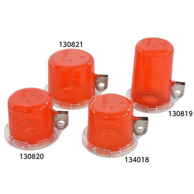 プッシュボタン ロックアウト用安全カバー  赤透明  5個セット 各サイズ+1(f0000002)の画像