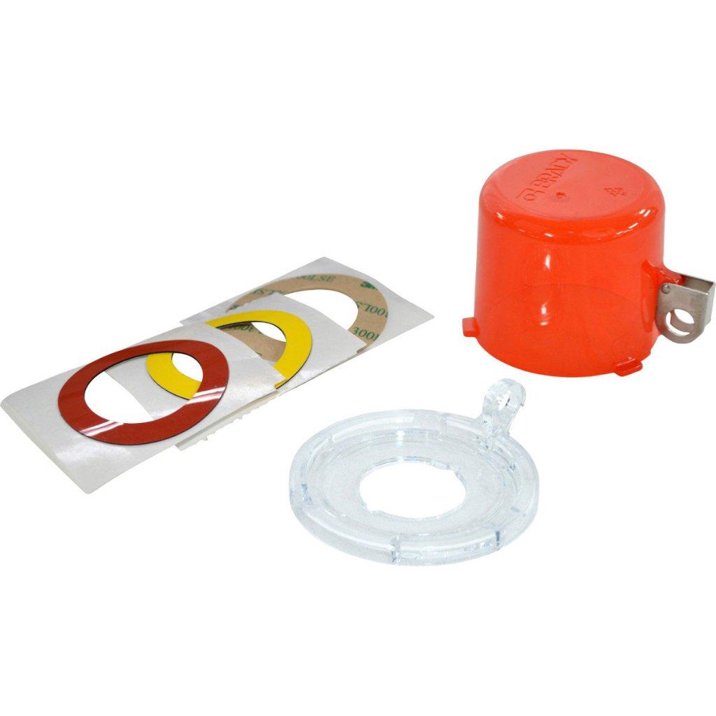 30mm プッシュボタン ロックアウト デバイス 赤透明 (標準サイズカバー)1個の画像