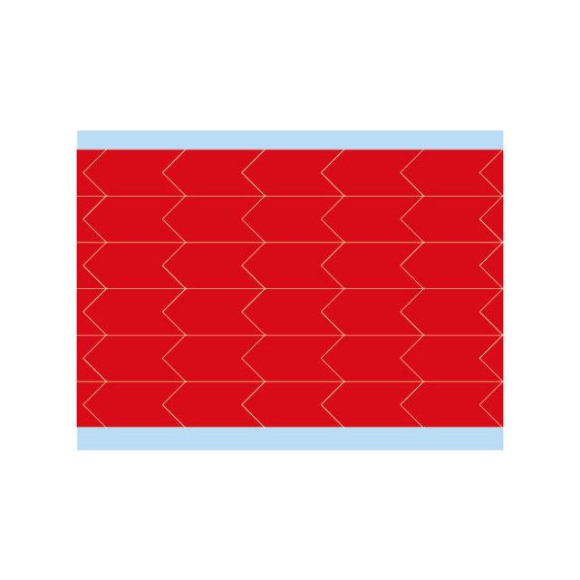故障指示ラベル DIA-500-RD(25CDS/BX)  赤 12.7x6.35mm     (f493487)の画像