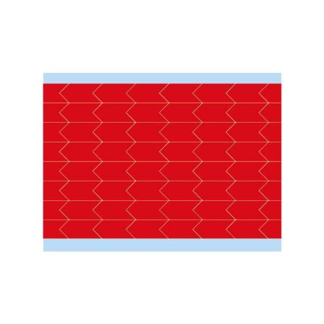 故障指示ラベル DIA-375-RD(25CDS/BX) 赤 9.53x4.75mm    (f493474)の画像