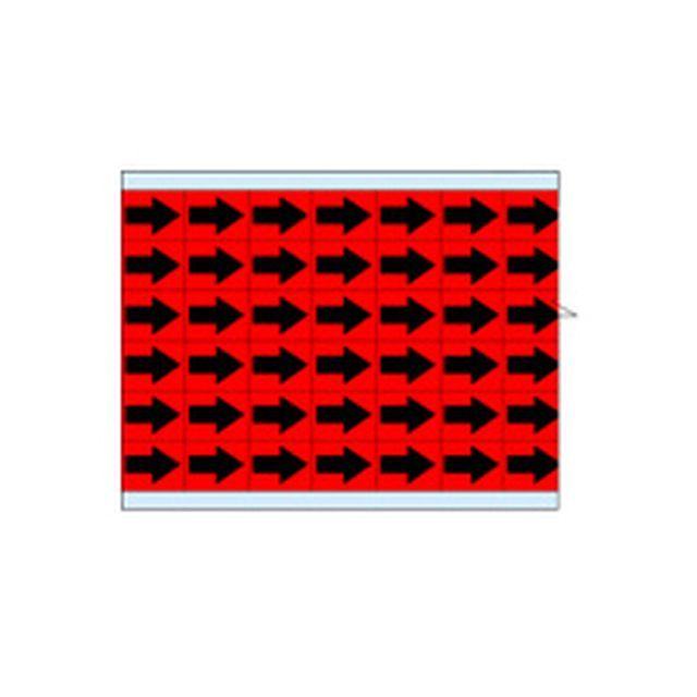 故障指示ラベル EIA-3025-RD(25CDS/BX)  赤地に黒矢印  (f493327)の画像