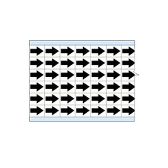 故障指示ラベル EIA-3025-WT(25CDS/BX)  白地に黒矢印  (f493319)の画像