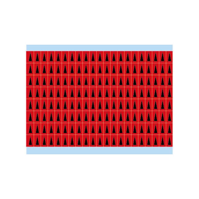 故障指示ラベル BIA-RD(25CDS/BX)  赤地に黒三角 白地に黒三角  (f489037)の画像