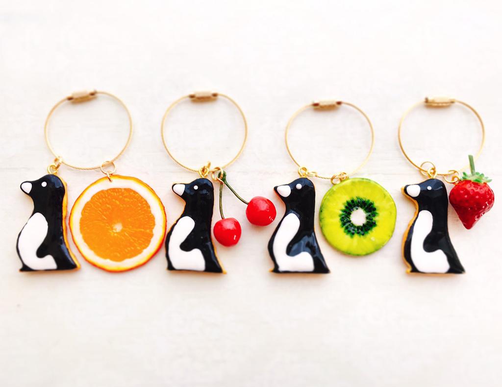アイシングクッキー&フルーツ【フェイクスイーツ】オリジナルバッグチャーム画像