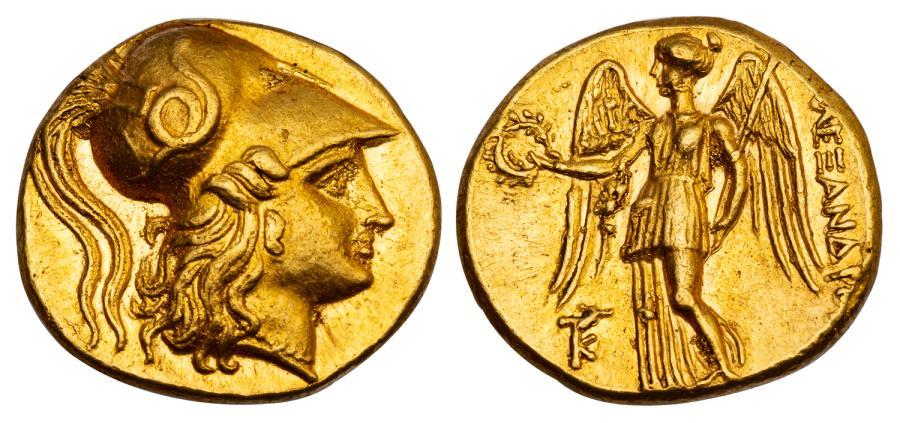 古代ギリシャマケドニアBC336-323 スターテル金貨CH AU 5/5 4/5の画像