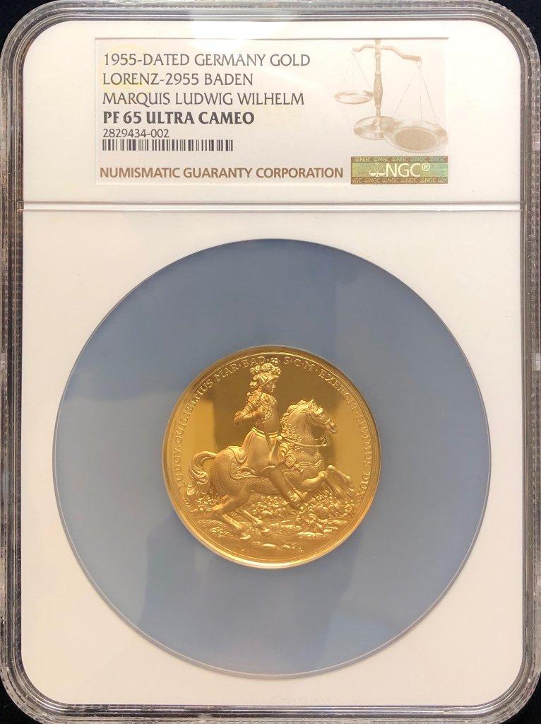 ドイツ1955年ルードヴィッヒ ヴィルヘルムメダルPF65UCAMの画像