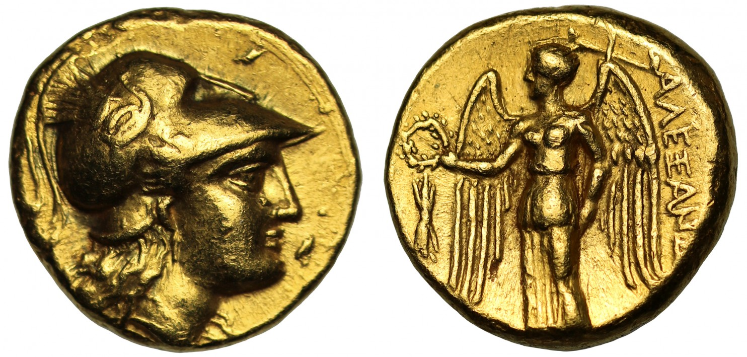 古代ギリシャ紀元前336-323年マケドニアスターテル金貨②画像