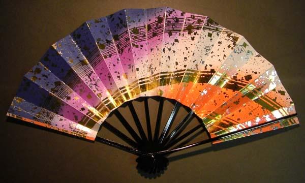 舞扇子 金銀砂 青紫赤 予約販売 お届け2週間よりの画像