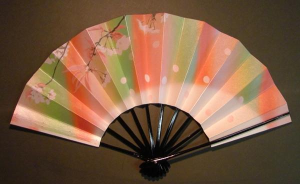 舞扇子 桜の重ね2 七彩 キラ引き画像