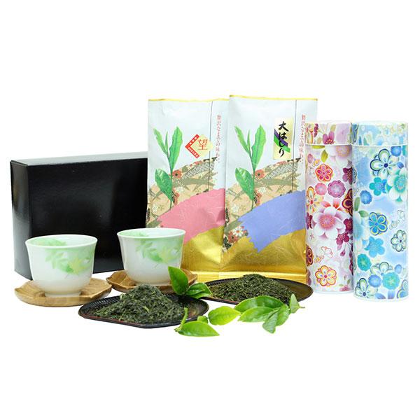 香り豊かな【大はしり茶100g】甘味が凝縮【望つゆひかり100g】オリジナル茶缶入 花おもい【い】セットの画像