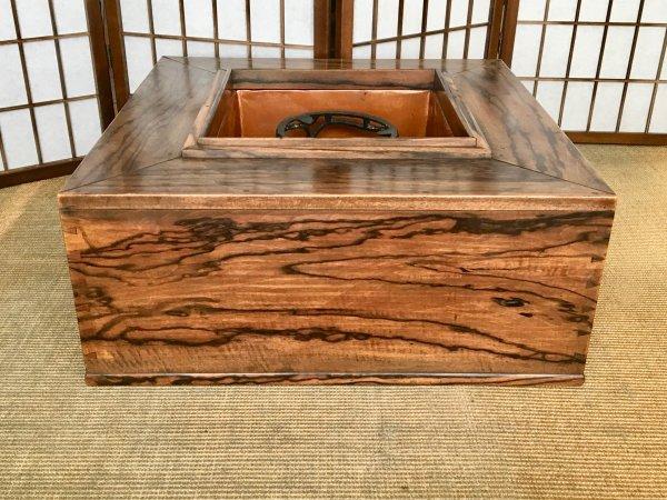 総黒柿角大型火鉢 KK283画像
