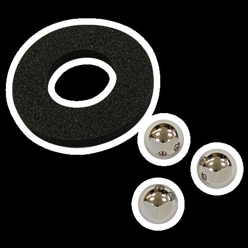 ステンレス球(×3)・ザブトン(×1)セットの画像
