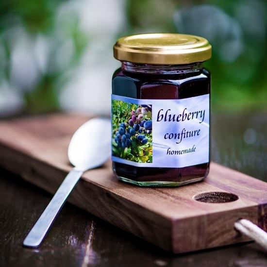 摘みたてブルーベリージャム 無農薬で甘みたっぷり 140g Berry's Farm池田の画像