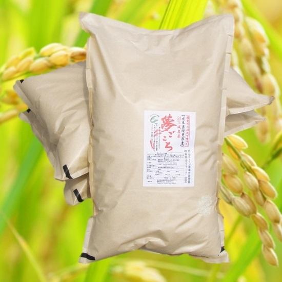 29年産 「特別栽培米」もっちりあまうま希少米「夢ごごち」 玄米30Kg(分つき可) 白鳥ファーム<送料無料>の画像