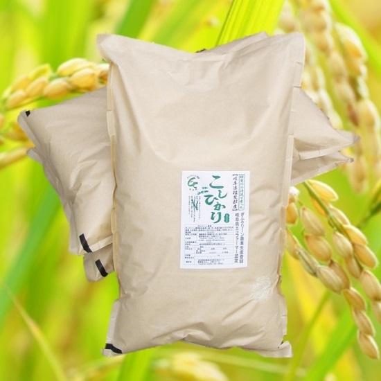 29年産「特別栽培米」 お米の王様「コシヒカリ」 玄米30Kg(精米可) 白鳥ファーム<送料無料>の画像