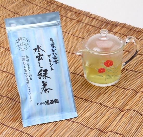 """百三十五年続く""""美濃いび茶""""味と香りを伝え継ぐ親子茶師の技「ブレンド水出し緑茶」 瑞草園(ずいそうえん)画像"""
