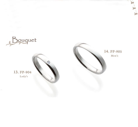 FR904 FR905 フェリーポルテ 結婚 指輪 ペアリング 【店頭サンプル有】画像