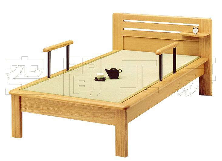 天然木タモ無垢材にオイル塗装仕上げ、こだわりの畳ベッド (国産品)の画像
