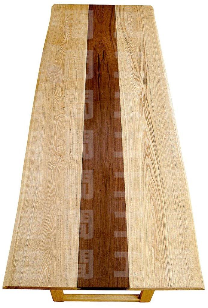 技とこだわり、オイル塗装仕上げの天然木ダイニングテーブル (四角形・国産品)の画像