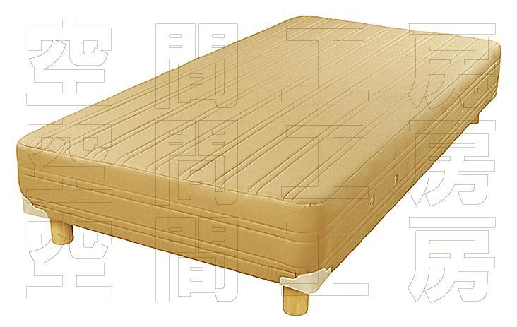 ピアノ・ポケットコイル仕様のシンプルベッド (国産品)の画像