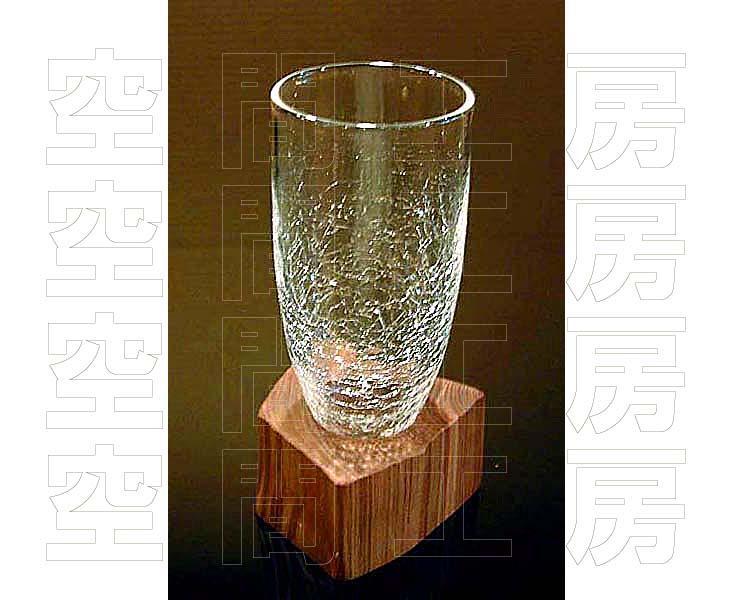 手にしっくり馴染む独特のクラフトグラス・天然木ベースタイプ (国産品)の画像