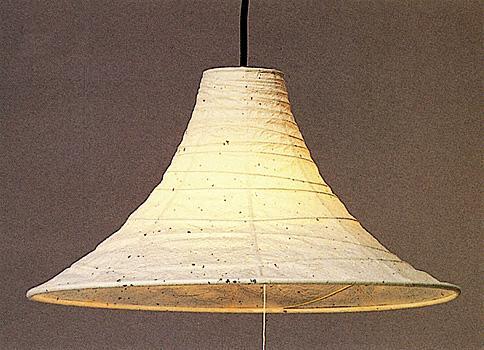 現代感覚溢れた美濃和紙製ペンダントライト (Aタイプ,国産品)の画像