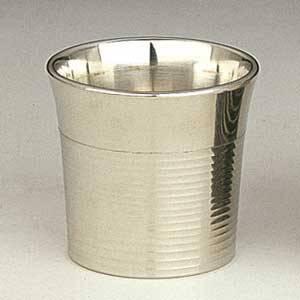 ぐい呑 磨 筋入/大阪錫器の画像