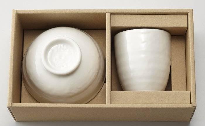森修焼 ナチュラル茶わん&ナチュラル湯のみセットの画像
