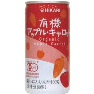 ヒカリ有機アップル・キャロット【190g缶】×1函30缶画像