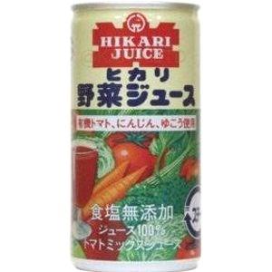 ヒカリ食塩無添加野菜ジュース【190g缶】×1函(30本の画像