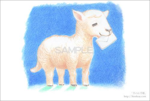羊のお手紙画像