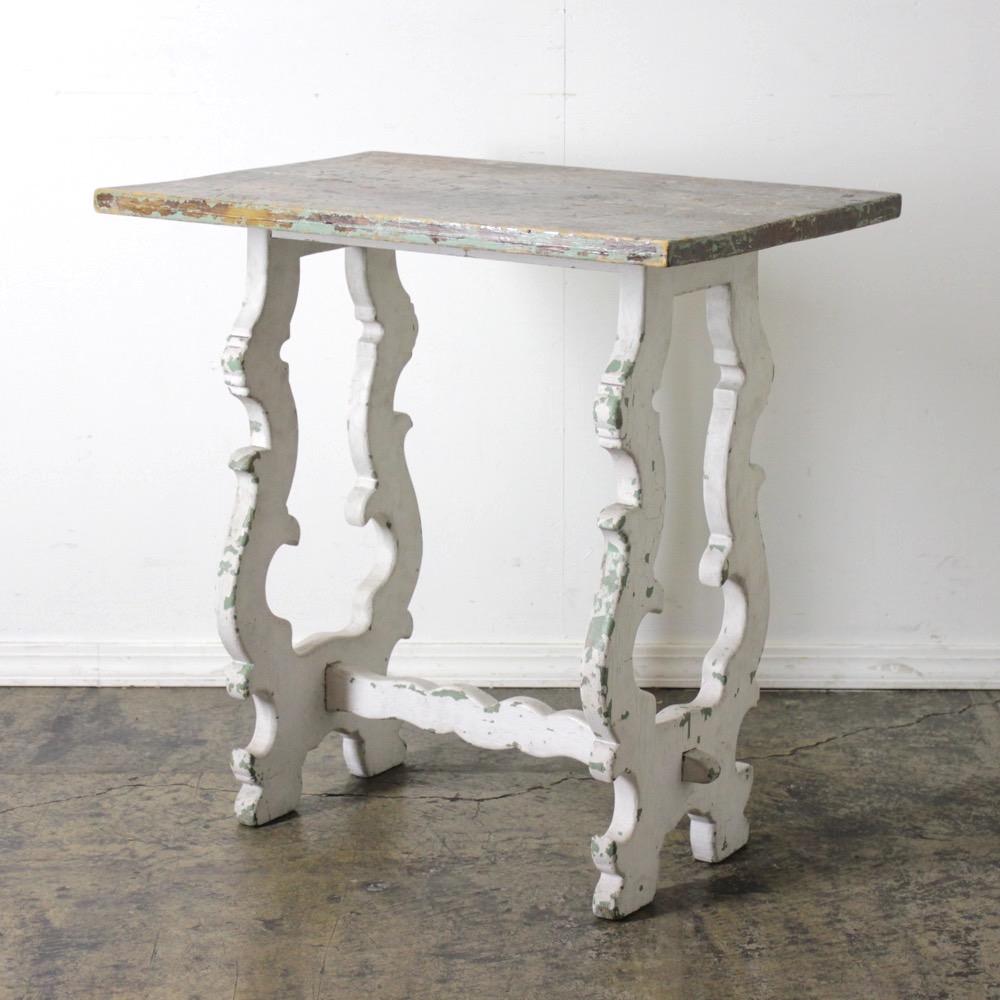 イギリス ヴィンテージ オールドパイン テーブルの画像