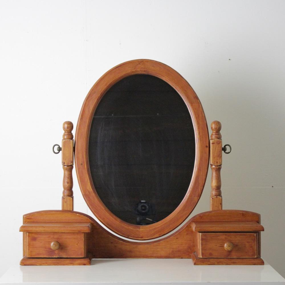 ヴィンテージ トイレットミラーの画像